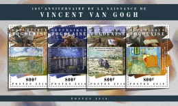TOGO 2018 MNH** Vincent Van Gogh Painter Maler Peintre M/S - OFFICIAL ISSUE - DH1808 - Künste