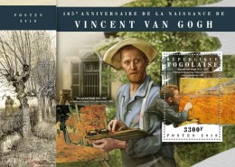 TOGO 2018 MNH** Vincent Van Gogh Painter Maler Peintre S/S - OFFICIAL ISSUE - DH1808 - Künste