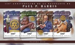 TOGO 2018 MNH** Paul P. Harris Rotary Club M/S - OFFICIAL ISSUE - DH1808 - Rotary Club