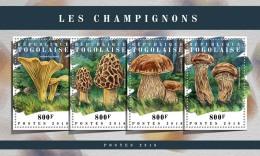 TOGO 2018 MNH** Mushrooms Pilze Champignons M/S - IMPERFORATED - DH1808 - Pilze