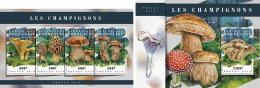TOGO 2018 MNH** Mushrooms Pilze Champignons M/S+S/S - IMPERFORATED - DH1808 - Pilze