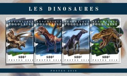 TOGO 2018 MNH** Dinosaurs Dinosaurier Dinosaures M/S - IMPERFORATED - DH1808 - Briefmarken