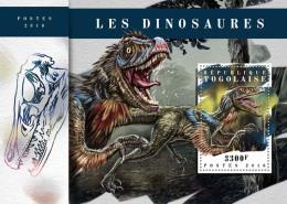 TOGO 2018 MNH** Dinosaurs Dinosaurier Dinosaures S/S - IMPERFORATED - DH1808 - Briefmarken