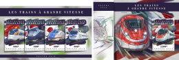 TOGO 2018 MNH** Speed Trains Schnellzüge Trains De Vitesse M/S+S/S - IMPERFORATED - DH1808 - Eisenbahnen