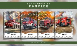 TOGO 2018 MNH** Fire Engines Feuerwehr Fahrzeuge Camions De Pompiers M/S - IMPERFORATED - DH1808 - Feuerwehr