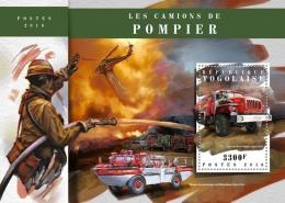 TOGO 2018 MNH** Fire Engines Feuerwehr Fahrzeuge Camions De Pompiers S/S - IMPERFORATED - DH1808 - Feuerwehr