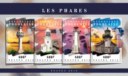 TOGO 2018 MNH** Lighthouses Leuchttürme Phares M/S - IMPERFORATED - DH1808 - Leuchttürme