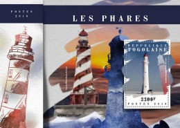 TOGO 2018 MNH** Lighthouses Leuchttürme Phares S/S - IMPERFORATED - DH1808 - Leuchttürme