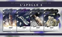 TOGO 2018 MNH** Apollo 8 Space Raumfahrt Espace M/S - IMPERFORATED - DH1808 - Raumfahrt