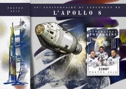 TOGO 2018 MNH** Apollo 8 Space Raumfahrt Espace S/S - IMPERFORATED - DH1808 - Raumfahrt