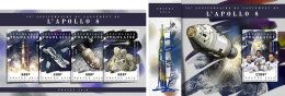 TOGO 2018 MNH** Apollo 8 Space Raumfahrt Espace M/S+S/S - IMPERFORATED - DH1808 - Raumfahrt