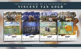 TOGO 2018 MNH** Vincent Van Gogh Painter Maler Peintre M/S - IMPERFORATED - DH1808 - Künste