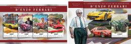 TOGO 2018 MNH** Enzo Ferrari Cars Autos Voitures M/S+S/S - IMPERFORATED - DH1808 - Autos