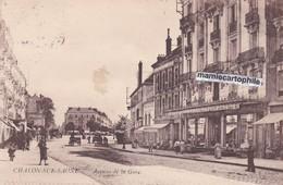 CHALON Sur SAONE - Dépt 71 - Avenue De La Gare - Animée - CPA - 1923 - Chalon Sur Saone