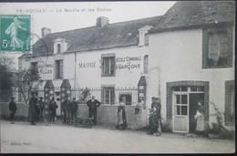 44  PRINQUIAU Mairie Et Ecoles 1909 SAVENAY LAUNAY CAMPBON MONTOIR DONGES LAVAU - Otros Municipios