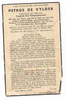 Petrus De Vylder Lokeren 1870 - 1943 - Devotieprenten
