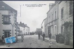 44  QUILLY Grande Rue Eglise 1924 PONTCHATEAU BRIVET GUENROUET BLAIN BOUVRON CAMPBON - Otros Municipios