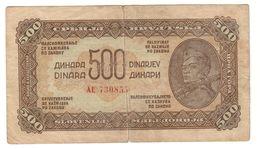 Yugoslavia 500 Dinara 1944 - Yugoslavia