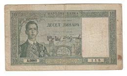 Yugoslavia 10 Dinara 1939 - Yugoslavia