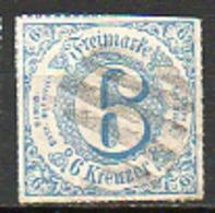 ALLEMAGNE - Tour Et Taxis (Etats Du Sud) - 1867 - N° 51 - 6 Kreuzer Bleu - Thurn Und Taxis