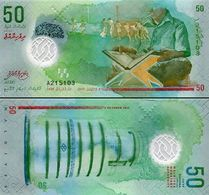 MALDIVE  50 Rufiyaa 2016  Polymer UNC - Maldives