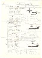 Fiche Technique BIREACTEURS Avion Douglas DC 9,Tupolev TU 134, LEAR JET T 23  ; Vers 1950/ 60 , TB - Manuali
