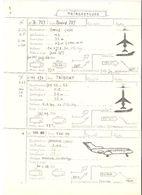 Fiche Technique TRIREACTEURS Avion Boeing B 727, TRIDENT HS 121 , Yakovlev YAK 40   ; Vers 1950/ 60 , TB - Manuals