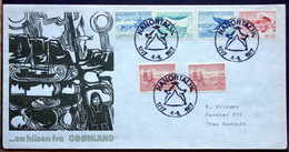 Greenland 1972  Cover Nanortalik  175 Town  Anniversary  ( Lot 4178 ) - Briefe U. Dokumente