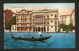 VENEZIA - Ca' D' ORO E Veduta ( Spedite Anni ' 30 ) Lotto Di 2 Cartoline Illustrate - Venezia