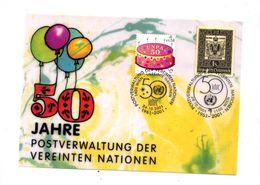 Carte Cachet Wien 50 Ans Poste - Wien - Internationales Zentrum