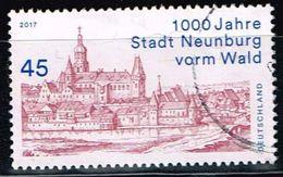 Bund 2017, Michel# 3290 O 1000 Jahre Stadt Neunburg Vorm Wald - BRD