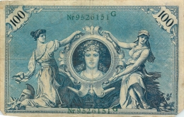 LOT DE 3 BILLETS 100 DM  SERIE H  G ET   L   REICHSBANKNOTE 1908 TOUS SCANNES - 100 Mark