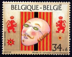 BE   2584   XX   ---   Timbre Du Bloc BL70  --  Philatélie  --  Musée Du Masque Et Carnaval - Binche - Unused Stamps