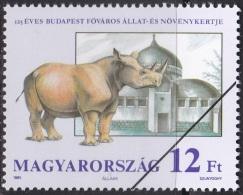 Specimen, Hungary Sc3289 Budapest Zoological And Botanical Garden, Rhinoceros, - Rhinozerosse