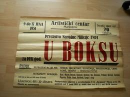Poster Plakat Marindvor The National Police Championship In Boxing 1951 Big Format - Boksen