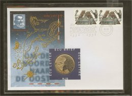 1996 - Netherlands ECU Letter No. 18 - Voyages Of Discovery - Willem Barentz - Nova Zembla [PB10_40] - Periode 1980-... (Beatrix)