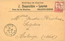 ERQUELINNES FABRIQUE DE CHAINES J.  DEMEULDRE-LOUVET 1913 - Erquelinnes