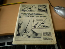 Showing How To Hold The Speedball Pen And The Brusch - Livres, BD, Revues