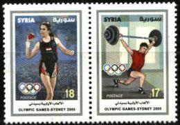 SYRIA, 2000, SIDNEY, OLYMPICS GAMES, YV#1150-51, MNH - Sommer 2000: Sydney - Paralympics