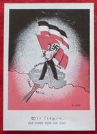 """""""Wir Siegen ."""" Propagandakarte, Saarabstimmung 1935, Fahne Mit Hakenkreuz, Gebraucht Top - Deutschland"""