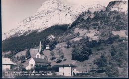 POSTAL PETIT BORNAND - LES GLIERES - L'EGLIE ET ROCHERS DE LESCHAUX 1940 - Francia