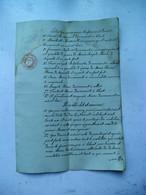 1840   Not. Akte  Verdeling Pierret Moos  - Elisabeth  Dewonck Te BLERET - Andere Verzamelingen