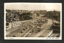 ROMA - La Via Dell' IMPERO ( Spedita 1938 ) Animata - Roma