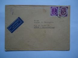 GERMANY    COVER 1954  POSTED ATHENS  SLOGAN - [7] République Fédérale