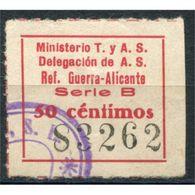 C05771 - Alicante, Ministerio T. Y A.S. 50c, Allepuz 71, Usado - Viñetas De La Guerra Civil