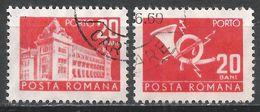 Romania 1967. Scott #J124 (U) General Post Office And Post Horn * - Port Dû (Taxe)