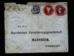 A5209) UK Ganzsachen-Brief Mit Zusfr. London 15.08.87 N. Germany - 1840-1901 (Viktoria)