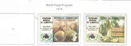 Rep.Dominicana PO 1974 Programma Cibo   Scott.734+735 Used See Scans On Scott.Page - Dominican Republic