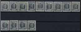 HOUYOUX Nr. 193 13 TYPO Voorafgestempelde Zegels   ; Staat Zie Scan ! Inzet 5 Euro ! - Preobliterati
