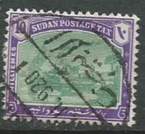 Soudan  -  Taxe   - Yvert N° 7 Oblitéré     - Cw32227 - Sudan (...-1951)